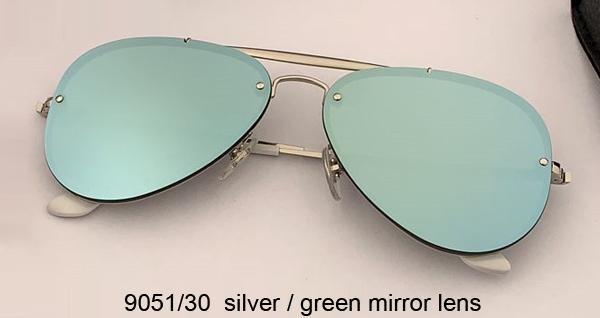 9051/30 الفضة / عدسة مرآة خضراء
