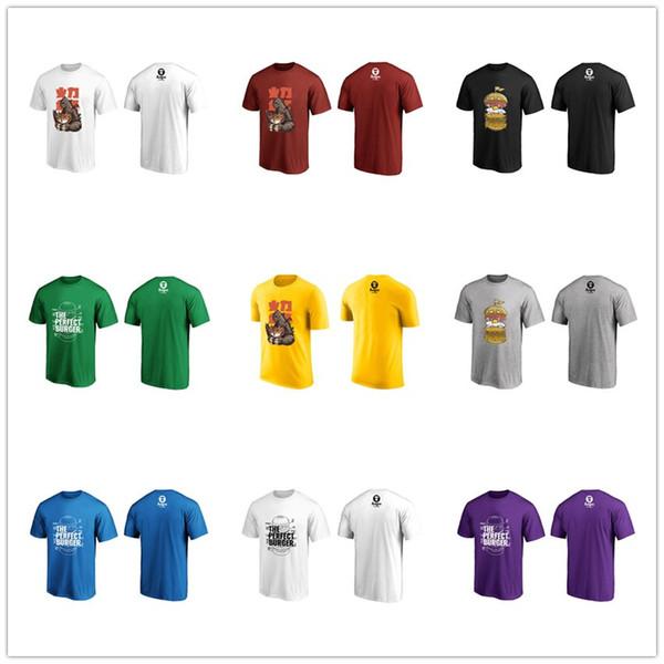 мужские дизайнерские футболки 2019 Б Марка X сложных полиэфиров Гамбург X Годзилла Мода досуг Повседневный Tops Хип-хоп досуг графический Смешные Тройники Отпечатано