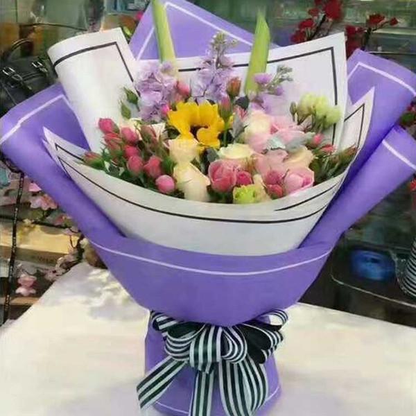 Papier d'emballage de fleurs Fournitures de fleuriste matériel fait à la main Diy Bouquet Pack festival papier d'emballage 20pcs / lot CNY1004