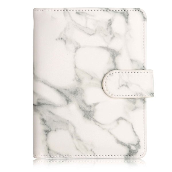 Marble Texture RFID Blocking Passport Holder Synthetic Leather Anti Scan Travel Multi Function Unisex Vintage Accessories Buckle
