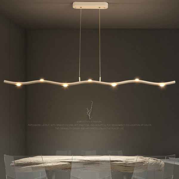 Dining Room Pendant Light Led Long Strip Hanging Light Simple Modern  Personality Office Studio Living Room Lighting Bar Table Pendant Lamps  Pendant ...