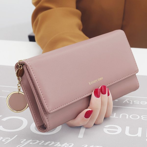 Fashion Leather Wallet Long Wallets And Purses Long Style Designer Purse Card Holder Phone Bag Female Purses And Handbags