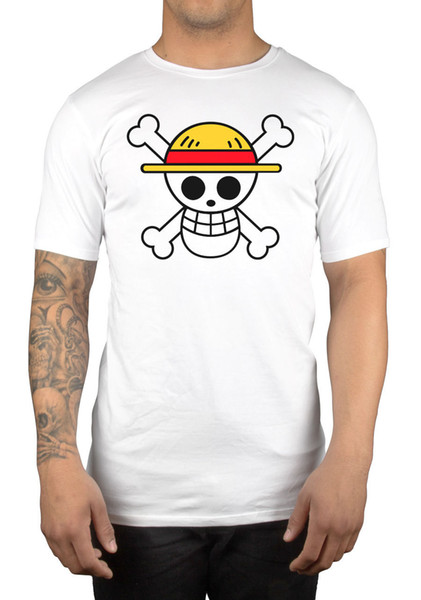 One Piece Skull T-Shirt Tee Anime Manga One Piece Japanese Gift Idea Present Funny free shipping Unisex Casual