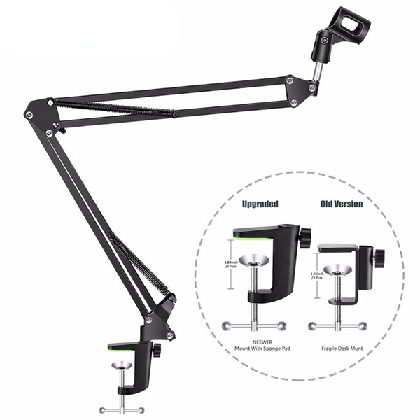 Original Brand Metal Extendable Recording Microphone Stand Tripod Boom Scissor Arm Holder With Microphone Clip Mounting Clamp