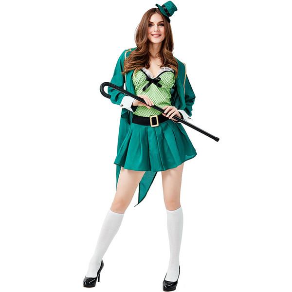 Vestido Costume Elf Umorden Womens Adolescentes St. Patricks Day Ireland Irish Leprechaun verde Espírito Halloween Mardi Gras festa de fantasia