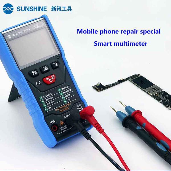 SUNSHINE Dijital Multimetre Cep Telefonu Tamir Özel Multimetre AC DC Voltmetre Ampermetre Tester El Metre Büyük Ekran