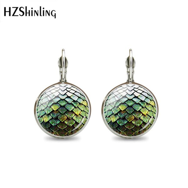 2019 Fashion Pendant Game of Thrones Dragons Large Egg Clip Earrings Vintage Steampunk Glass Round Charms Earring Jewelry