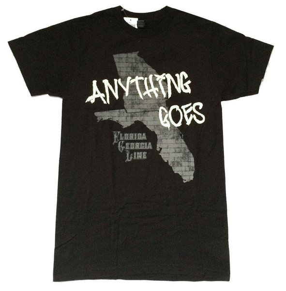 Florida Georgia Line Qualquer coisa Vai Tijolo Estados Imagem Preto Camiseta Novo Oficial