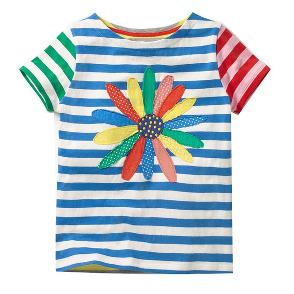 Girls Summer Tops Baby Clothes 2019 Brand Kids Tee Shirt Enfant Fille Striped Girls T-shirts Children Clothing Princess Costume