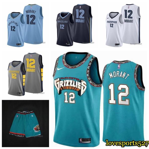 2019 35 2019 2020 Nbajersey Memphisgrizzlies 12 Ja Morant Short Embroidery Cityedition Basketball Jerseys Bule S Xxxl From Jerseyptb16 18 3