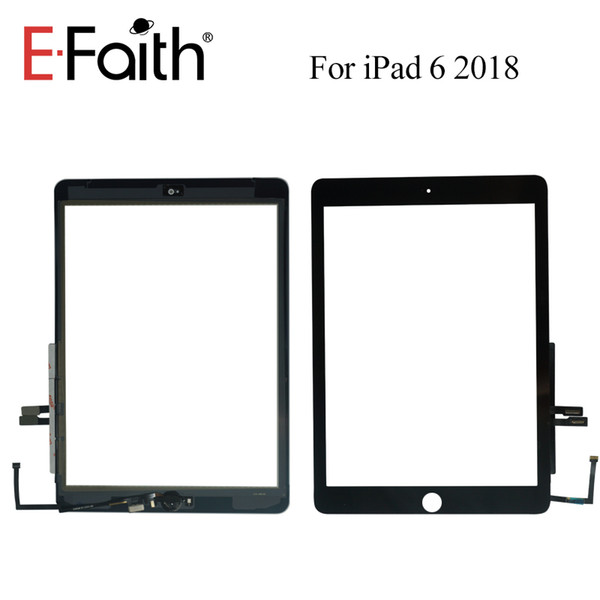 High Quality touch digitizer For ipad 6th Gen 2018 Touch Screen Digitizer Replacement with Home button+Adhesive for iPad 6