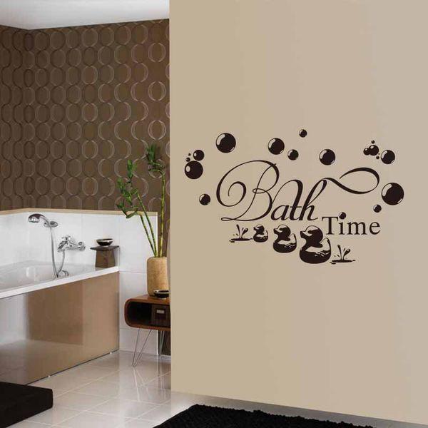 Großhandel Niedliche Enten Blasen Bad Zeit Badezimmer Wandaufkleber  Aufkleber Vinyl DIY Badezimmer Wand Und Glastür Decor Shower Room Decals  Von ...