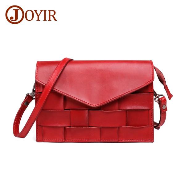 JOYIR Women Woven Handbags Genuine Leather Women's Bags High Quality Female Shoulder Bags Ladies Cowhide Crossbody Bag bolsa