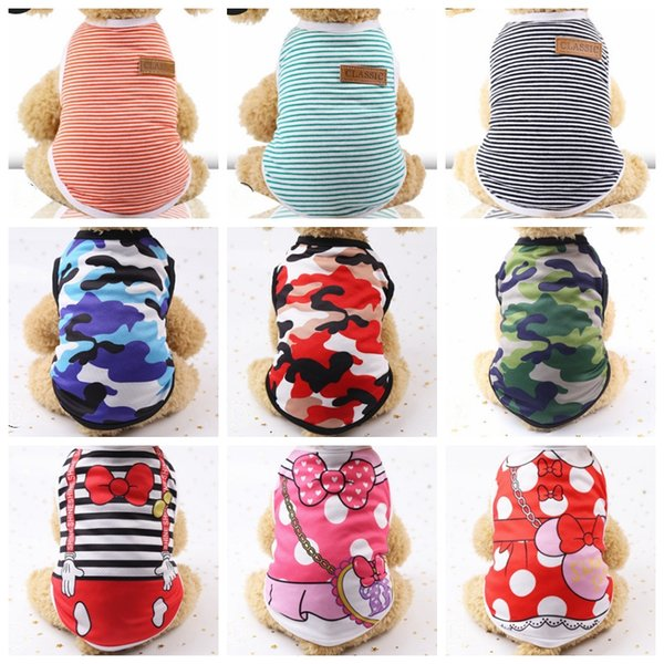 Dog Clothes Pet Dog Vests Small Dogs T-shirt Summer Puppy Clothes Pet Supplies for Teddy Chihuahua 20 Designs Wholesale YW2819