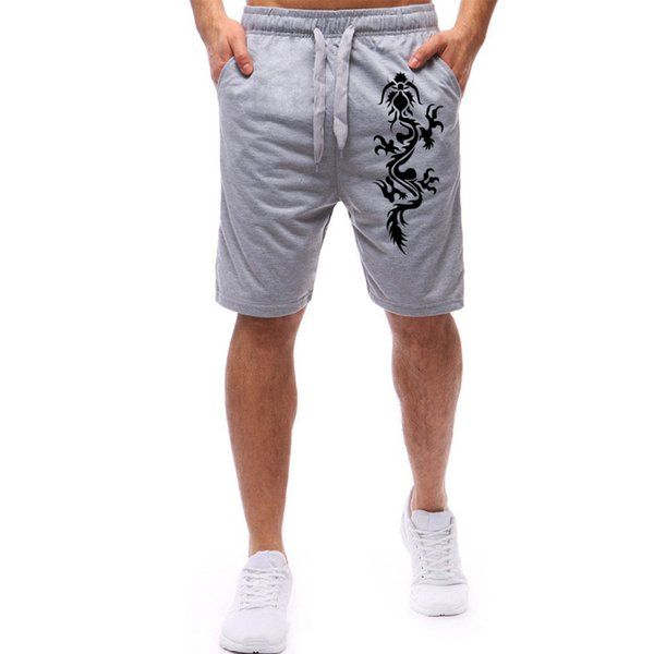 Fashion-2019 New Style Mens Dragon Print Foreign Trade Wholesale Special Hot Sale Men Run Volume Fashion Shorts