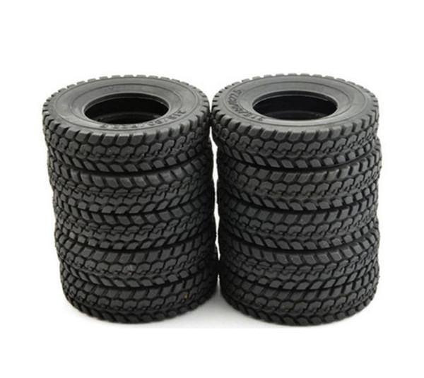"""1/14 Rc Replacement Tyres Tires (2 pcs) for Tamiya 1/14 R/C Tractor Trailer/Truck 1.75"""" Wheel"""