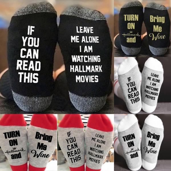 6 stilleri Noel çorap Mektup Baskılı Diz Yüksek Çorap Erkek Kadın Alfabe Spor Yoga Çorap noel Dekorasyon çorap Toptan EJY720