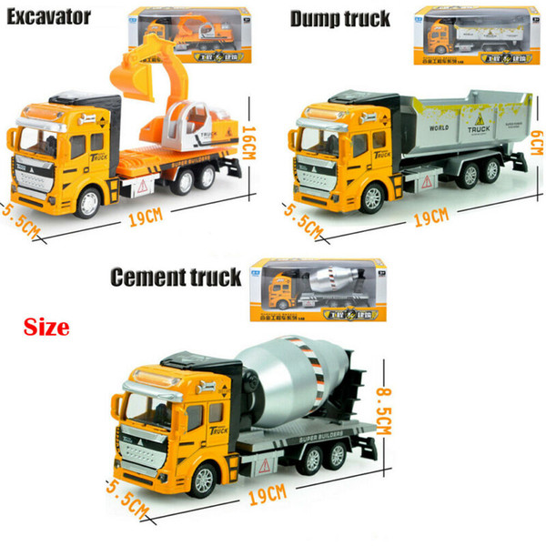 best selling NEW Kid Play Vehicles Toy Construction Assorted Trucks Mini Car Friction Powered
