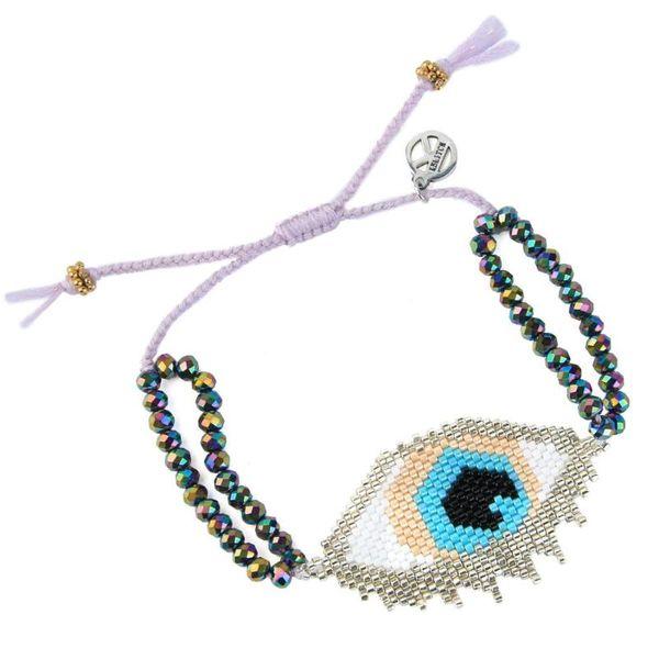 KELITCH Boemia Trendy Miyuki dei braccialetti di fascino degli occhi diabolici del filo il braccialetto in rilievo Bangles causali braccialetti dei monili per la mamma figlia