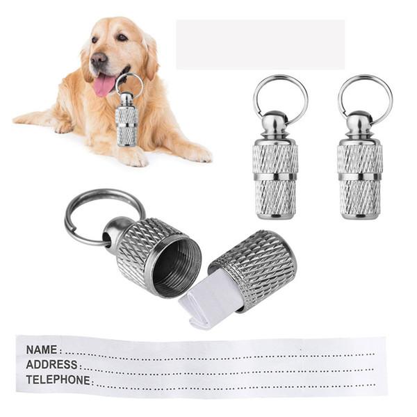 Étiquettes anti-perte de chien Étiquette d'identification de chat Alliage Collier Pendentif Étiquette d'identification anti-perte Nom personnalisé Accessoires pour animaux
