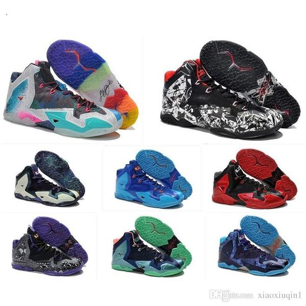 то, что Леброн 11 XI баскетбол мужской обуви для продажи lebrons 11S Рождество BHM Oreo молодежи Дети поколения кроссовки ботинки с оригинальной коробке