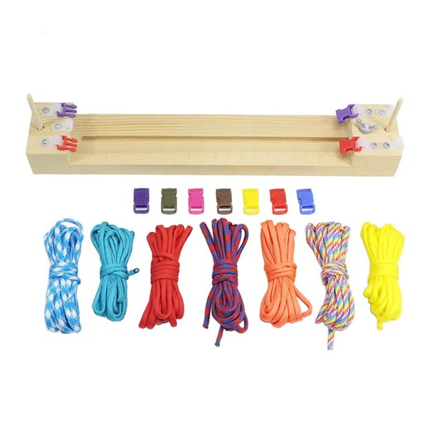 DIY Strong Solid Wooden Frame Umbrella Rope Bracelet Knitting Survival Bracelets Braiding Framing Paracord Jigs Fashion Hot Sale 9qkI1