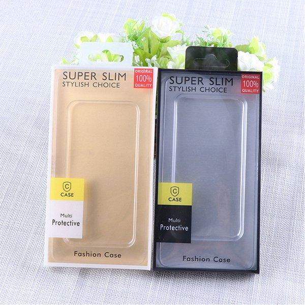 200pcs/lot PVC Box Packaging for Mobile Cell Phone Case Cover Packing with Hang Hole Wholesale