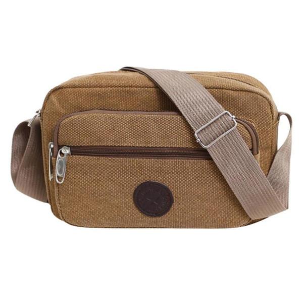 Casual Men Canvas Satchel Belt Shoulder Bag Sling Crossbody Messenger Bags 2019 New Male Bag Fashion Man Shoulder Handbag