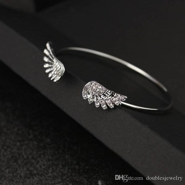 European and American fashion jewelry diamond jewelry angel wings Bracelet personality diamond alloy bracelet manufacturers direct opening