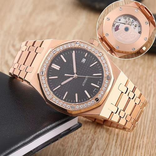 2019 luxury royal diamond watch fashion classic sapphire stainless steel strap automatic movement men mens watch watches