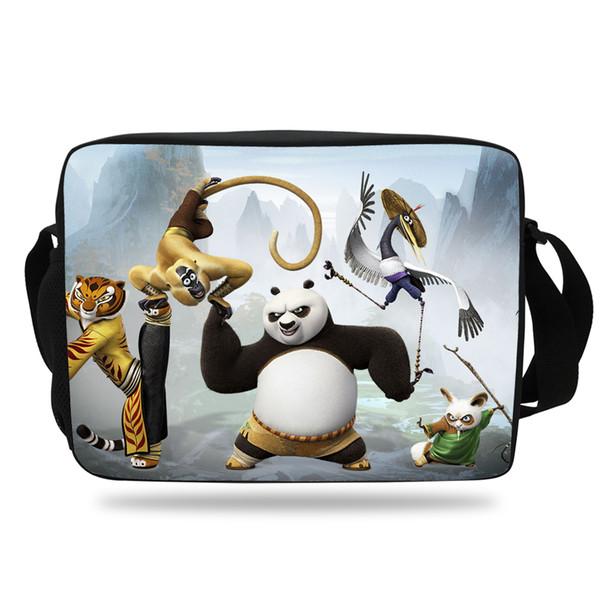 Fashion Men's Shoulder Messenger Bag Kung Fu Panda Print Shoulder Bag For Kids Girls Boys Cartoon Single For Teenagers