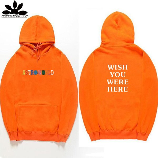 2019 Fashion Travis Scott Astroworld WISH YOU WERE HERE Hoodies Fashion Letter Print Hoodie Streetwear Man And Woman Pullover Sweatshirt From Digua12,