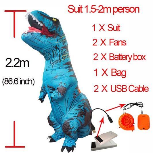 Blue L Dinosauro gonfiabile