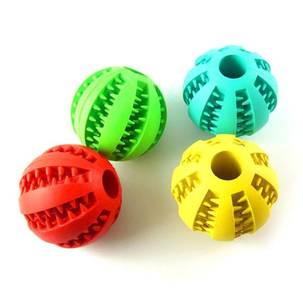 Cheapest Pet Dog Toys Extra-tough Rubber Ball Toy Funny Interactive Elasticity Ball Dog Chew Toys For Dog Tooth Clean Ball Of Food Wholesale