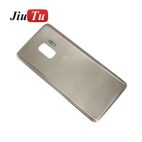Per Samsung S9 batteria portello della copertura posteriore Housing riparazione parti di ricambio Nero Oro Grigio Viola Blu Jiutu