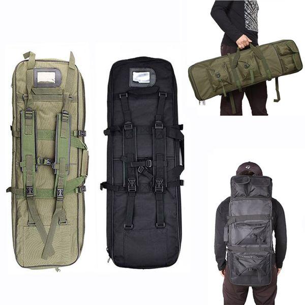 Venta caliente Ejército Militar Molle Gun Bag Caza Equipo Rifle Caso Airsoft Sport Bag Nylon Shooting Tactical Hombro Mochila # 372540