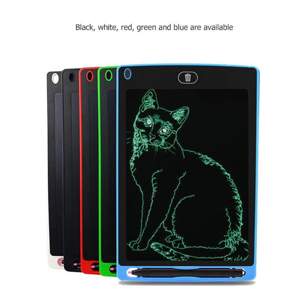 top popular 8.5 inch LCD Writing Tablet Drawing Board Blackboard Handwriting Pads Gift for Kids Paperless Notepad Tablets Memo With Upgraded Pen 5 color 2020