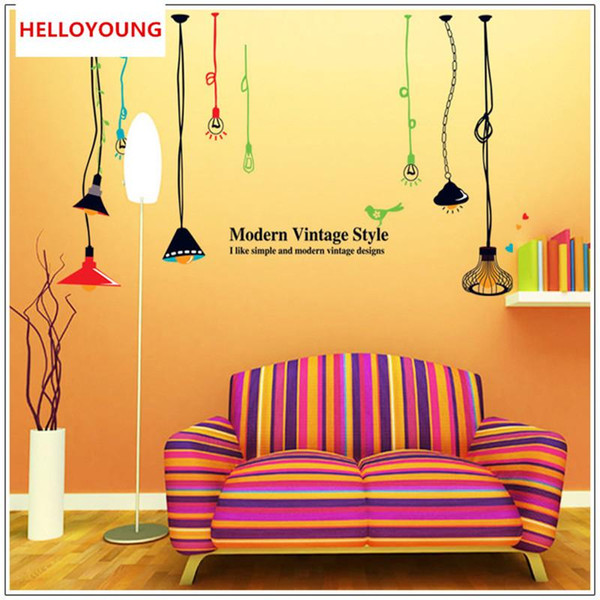 Real Light Bulb Room Decor Mural Art Vinyl Wall Stickers 3d adhesive to Stickers Home Decoration Decal For Kids Rooms