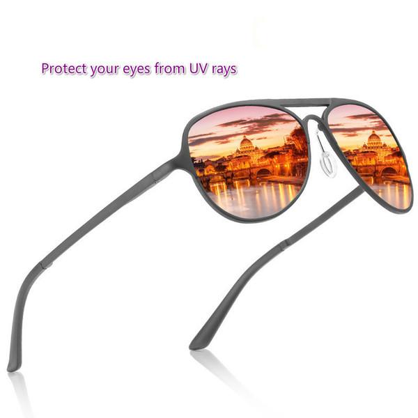 men's polarized uv sunglasses aluminum magnesium frame colorful driving fishing sunglasses + exquisite box - from $20.85