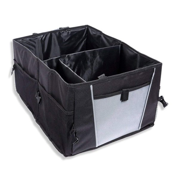 Large Size Durable Oxford Cardboard Handmade Collapsible Vehicle Car Trunk Storage Box Bin Basket Organizer with Handles