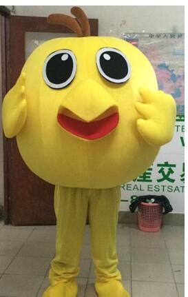 Yellow Chicken Mascot Costume Cartoon Apparel Masquerade Birthday Party Apparel