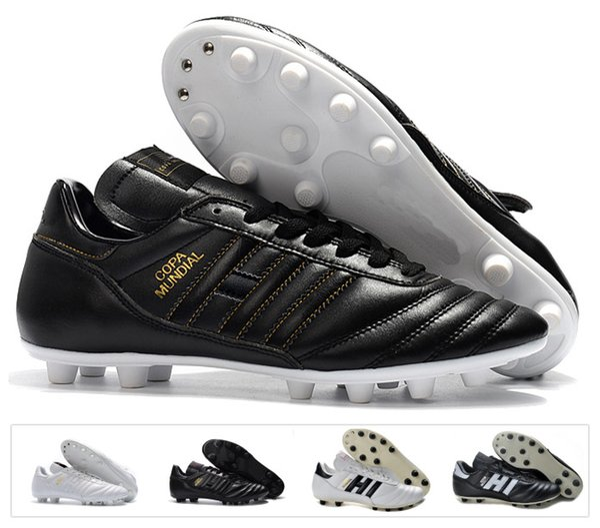 Hot Classics Hombres Copa Mundial Cuero FG Zapatos de fútbol Botines de descuento Copa Mundial de Fútbol Botas Negro Blanco botines futbol Tamaño 39-45