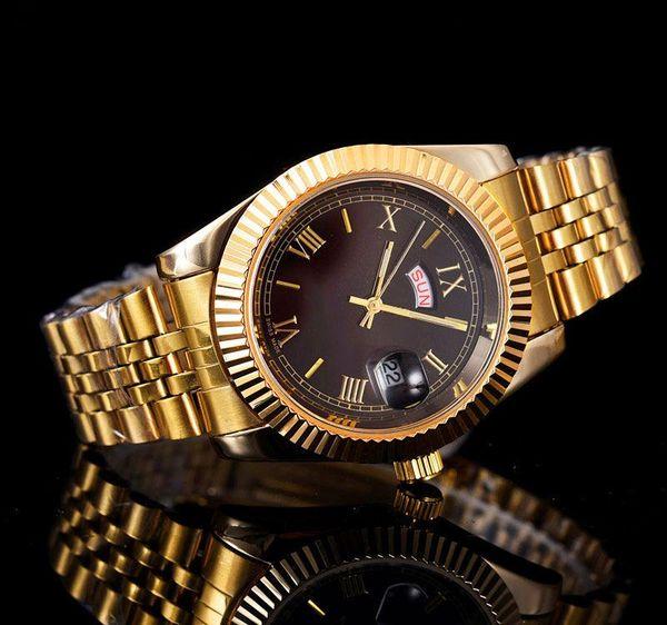 Submarino relogio masculino para hombre relojes De lujo diseñador de moda Negro Dial Calendario oro Pulsera Broche plegable Maestro Masculino