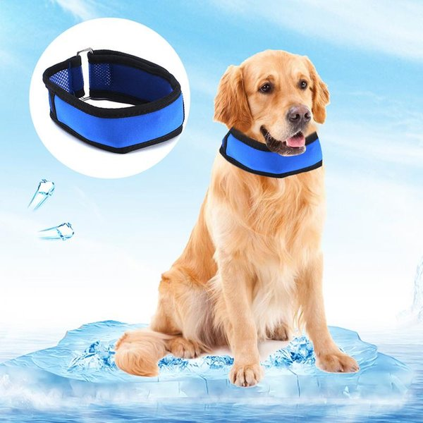 Pet Cooling Collar Dog Adjustable Chain Cooling Collar With Removable Gel Pack Ideal For Hot Weather Easy To Open And Close