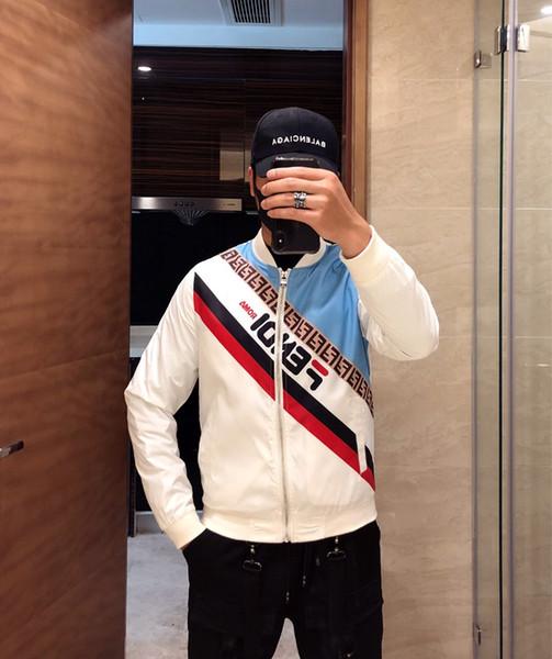 Fashion Jacket Casual Windbreaker Long Sleeve Cotton Blend Size M-3XL One Coler Mens Jackets Zipper Pocket Animal Flower Letter Pattern82