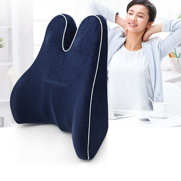 best selling Lumbar Cushion Lower Back Support Pillow for Car Seat Office Chair Memory Cotton Lumbar Cushion Massager Waist Cushion Pillow