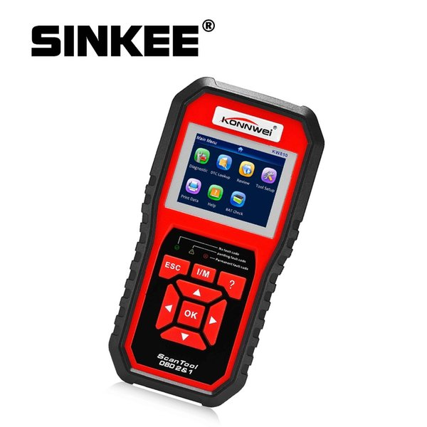 KW850 OBD2 Scanner EODB CAN Auto Scanner One Click Update Car Diagnostic Tool Tester batteria 8 lingue SK1803