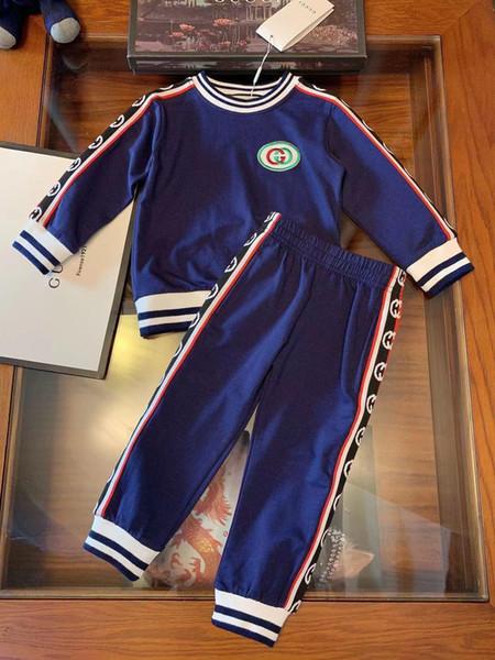 2019 nouveau costume de haute qualité à manches longues deux pièces pour enfants190812 # 016
