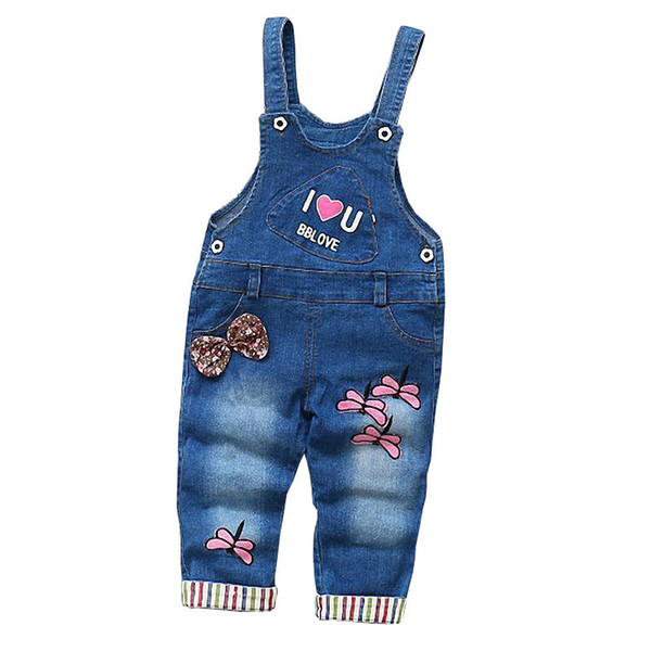good quality Girls Baby Overalls Trousers Jeans Denim Jumpsuit Child Bib Pants Kids Autumn Children Jeans Jumpsuits Clothes 2019