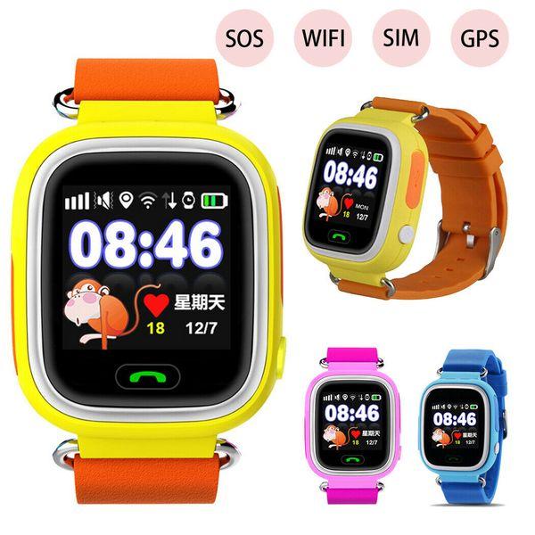 Kids GPS Smart Watch Q90 Smartwatch SOS SIM Card Relogio Children WiFi Watch 2G